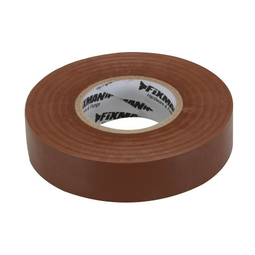 Fixman 187738 Electrical Insulation Tape 19mm x 33m Brown